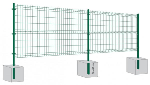 Stabilgitter 4mm Komplett-Set mit Steher zum Einbetonieren