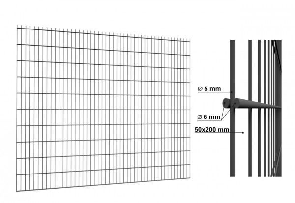 Doppelstabmatten Standard 6/5/6 mm