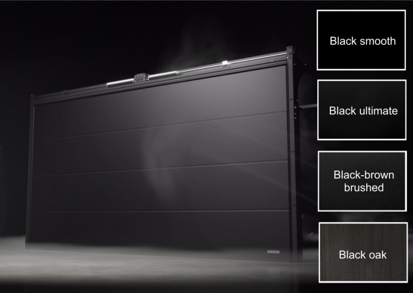 Sektionaltor Black Series mit glatter Oberfläche