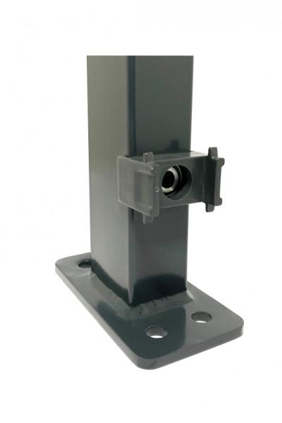 Steher Doppelstab-DM mit aufgeschweißter Montageplatte